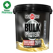 MUSASHI PROTEIN POWDER BULK MASS GAINER WHEY BANANA SMOOTHIE 2.28kg WPI WPC