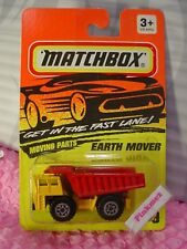 1995 Matchbox EARTH MOVER #9 ∞orange/red∞dump truck∞moving parts∞Fast Lane