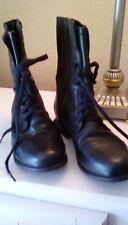 STEVE MADDEN WOMEN'S BLACK ZIPPER BOOTS SIZE 7 1/2 LEATHER