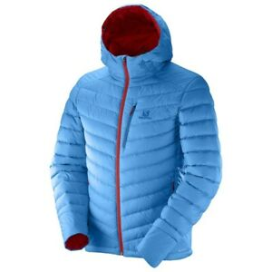 SALOMON MENS HALO DOWN HOODED  JACKET SIZE XLARGE GOOD CONDITION