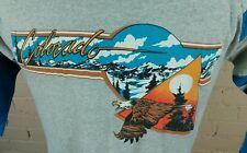 Vintage 80s Thin colorado Eagle Mountain Hiking T Shirt Large Surf Sunset