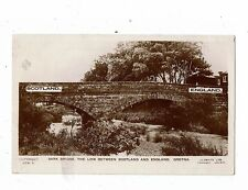 POST CARD REAL PHOTO SARK BRIDGE, THE LINK BETWEEN SCOTLAND AND ENGLAND GRETNA.