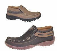 Mens Casual Shoes Slip On Deck Loafers Smart Walking Comfort Driving Flat Boots