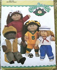 """Cabbage Patch Kids pattern doll clothes sailor soccer boy & girl 16"""" & 21"""" dolls"""