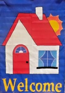 Welcome Cottage Standard House Flag by NCE #00558