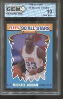 1990-91 Michael Jordan Fleer #5 Gem Mint 10 Chicago Bulls MVP HOF