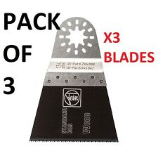 Pack of 3 FEIN STAR 65mm E-Cut Wood Saw Blade 134 Multimaster Tool 63502134025