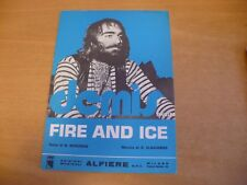 SPARTITO MUSICALE FIRE AND ICE B. BERGMAN S. VLAVIANOS DEMIS ROUSSOS ED.ALFIERE