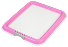 Pet Training Pad Floor Tray Puppy Dog Holder Protection Pee Toilet non-skid Pink