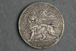1892 Ethipoia 1 Birr Rare Scarce Silver Coin VF + XF Dollar Size Coin! SK