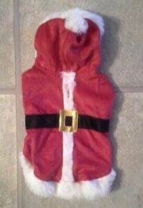 Holiday Time Dog's Size Small Mr Santa Claus Red Outfit With White Fur Tim