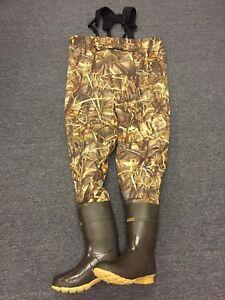 NEW Kobuk Men's Max-4 Camo Breathable Hunting Wader Lug Boots Size 12 Stout
