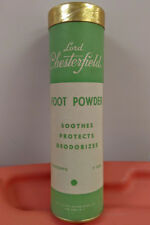 Vintage Lord Chesterfield  Foot Powder 8 oz Cardboard Container Full Unused RARE
