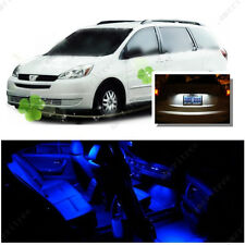 For Toyota Sienna 2004-2010 Blue LED Interior Kit +Xenon White License Light LED