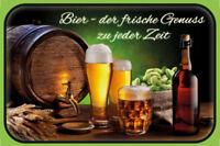 Bier - der frische Genuss Blechschild Schild gewölbt Metal Tin Sign 20 x 30 cm