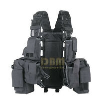 BLACK DURBAN Tactical Assault Vest Hydration Carrier Magazine Pouch
