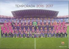 Postal postcard Plantilla/Team FC BARCELONA 16/17 (10,5x15 cms)