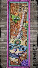 5x15 DUB KAT, graffiti street wall art cat knitting music guitar yarn ball 4