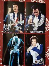 Elvis Presley: 9 Photo Set (1975) Navy Blue Jumpsuit w/Silver Phoenix & Free Cd