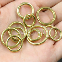 Solid Brass Open O Ring Round Jump ring Jewelry Findings Repair Connectors