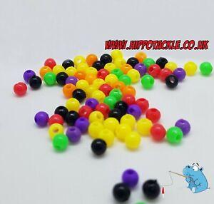 250 x round fishing beads 6mm