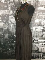Cue Dress, Size 10, Brown