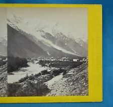 1860s Stereoview Photo Chamonix Et Mont Blanc Switzerland Tiarraz Freres Suisse