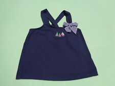 janie and jack baby girls nautical tank top size 6-12 months sail away line