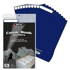 25 Quality BCW BLUE Comic Book Dividers Archival Acid Free w/ Write on Index Tab