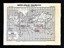 1841 Perrot Map - World French Colonies Cayenne Martinique India Africa America
