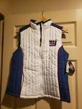 NWT WOMEN'S NFL TEAM APPAREL PUFFER SIDELINE VEST NEW YORK NY GIANTS SIZE MEDIUM