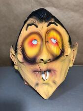 Vtg 80s Topstone Dracula Halloween Mask Vampire Latex Sri Lanka Goofy Big Eyes