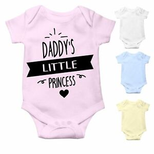 Daddy's Little Princess   Baby Grow Baby Bodysuit Baby Vest for Baby Girl