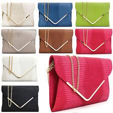 Italian Designer Handbag Envelope Evening Clutch Hand Bag Womens Ladies Purse