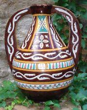 Consistant Vase ancien 1950's Poterie de Nabeul Tunisie