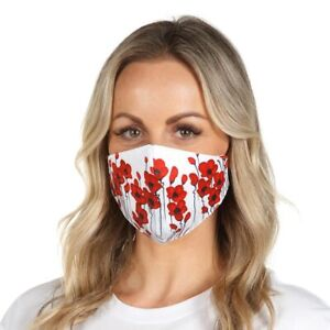 Face Mask - Mpressions Poppies Print