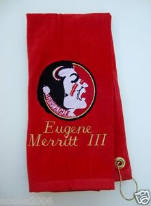 Personalized Embroidered Golf Bowling Workout Towel Florida State