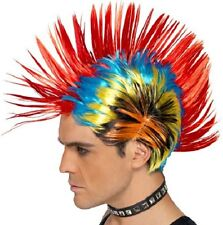80s 1980s 80's Street Punk Rainbow Mohawk Mohican Fancy Dress Wig by Smiffys