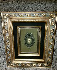 Vintage Framed Cameo Woman Wall Plaque Victorian Style Framed Art 10 x12 j3