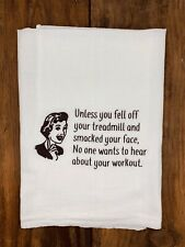 Funny Tea Towel | Exercise Treadmill | Best Friend |Dish Towel