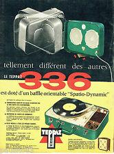 PUBLICITE ADVERTISING 125  1958  TEPPAZ  éléctrophone 336 Spacio-dynamique