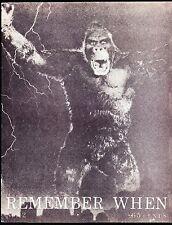 REMEMBER WHEN MAGAZINE # 12 FILM TV COMICS KING KONG THE SHEILD PEP WESTERNS