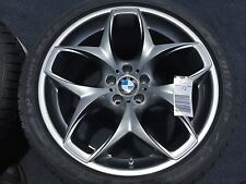 4 BRAND NEW GENUINE BMW 21 IN X6 E71 WHEELS TIRES RIMS TPMS RUNFLAT OEM FACTORY