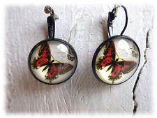 Ohrringe  kleiner Fuchs - Cabochon Ohrringe Ohrhänge Schmetterling Butterfly