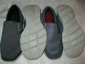 2 Skechers Equalizer model lightweight slip-on casual loafers both are men's 8