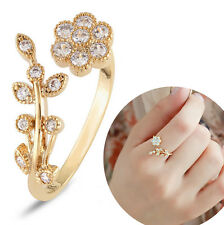 Fashion Women Girl 14k Gold P Crystal CZ Bridal wedding Ring Size 7-8 Couple 1X