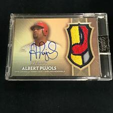 New listing 2017 Topps Dynasty ALBERT PUJOLS Patch Auto Jersey 3/5 St Louis Cardinals   *RM4
