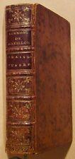 SERMONS DE MASSILLON - ORAISONS FUNEBRES ET PROFESSIONS RELIGIEUSES - 1755