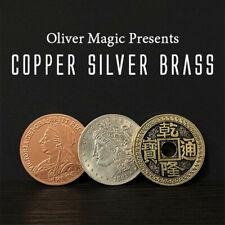 Copper Silver Brass Transposition Oliver Magic Close Up Magic Tricks Coin Magic