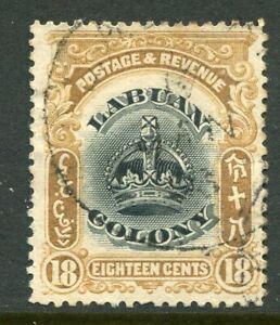 LABUAN....    1902-03  18c blk/brown, Sg125   used